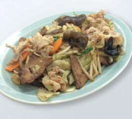 肉レバ野菜炒め